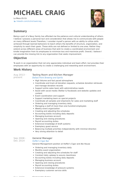 Resume Templates For Kitchen Manager Kitchen Manager