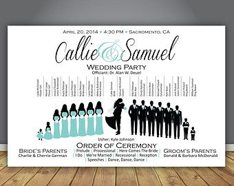 Silhouette Wedding Program Ceremony By SimpleandStunning2