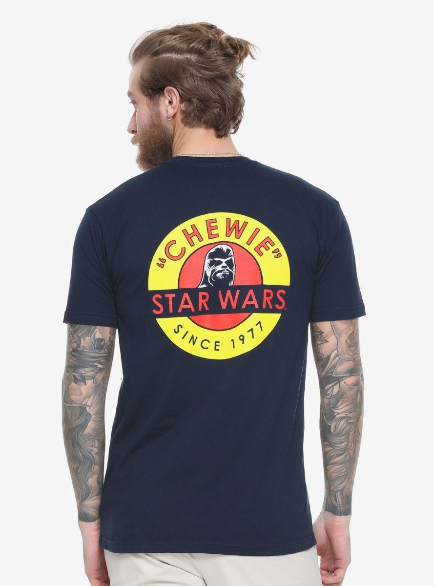 Star Wars Tri-Group Han Solo Chewbacca Mens Black T-Shirt Disney