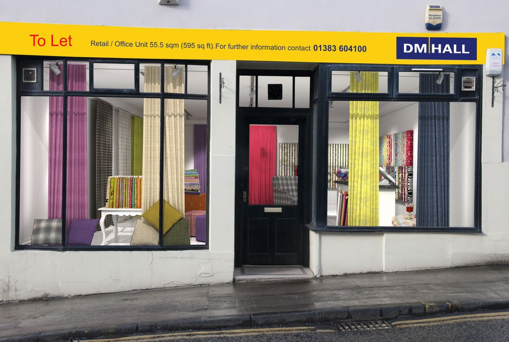 We take a vacant retail unit and cover the window entirely