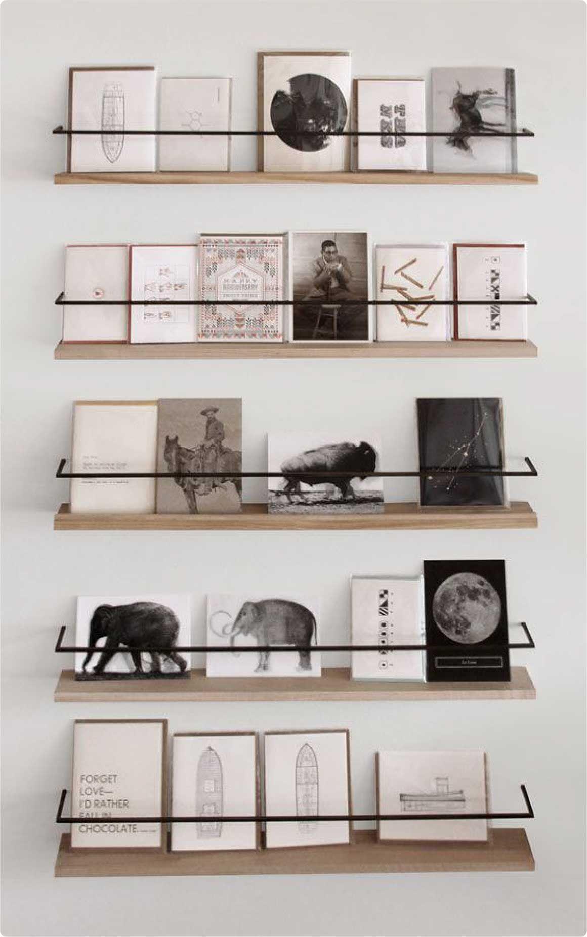 Metal And Wood Card Display Pinterest Metals