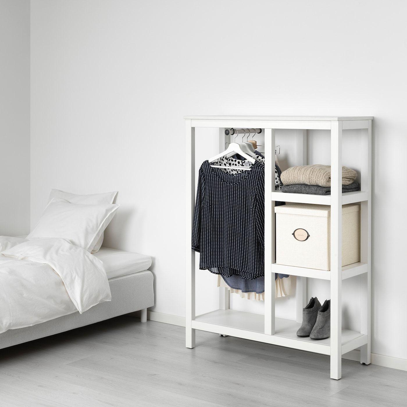 Hemnes Kleiderschrank Offen Weiss Las Ikea Deutschland In 2020 Hemnes Kleiderschrank Offene Garderobe Ikea Hemnes Kleiderschrank