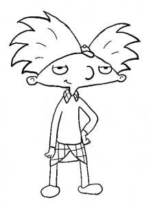 Nickelodeon How To Draw Arnold From Hey Arnold Cartoon Coloring Pages Drawing Cartoon Characters 90s Cartoon Characters