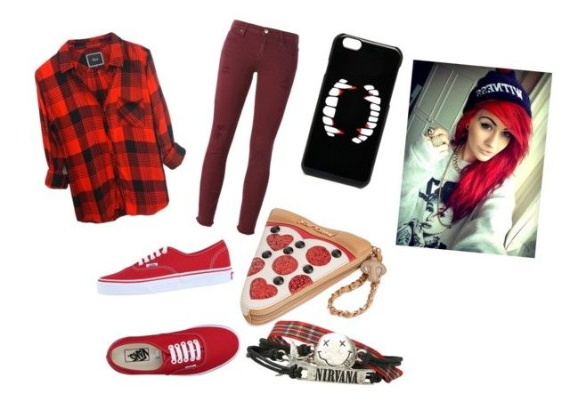 """""""Red"""" by batcat20 on Polyvore featuring Vans, IRO, Betsey Johnson and ASOS"""