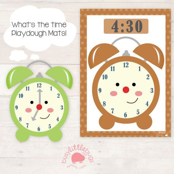 Super fun telling the time learning activity where children read the time on each mat then create the hands on the clock using playdough. #busylittlebugs #etsy #printables
