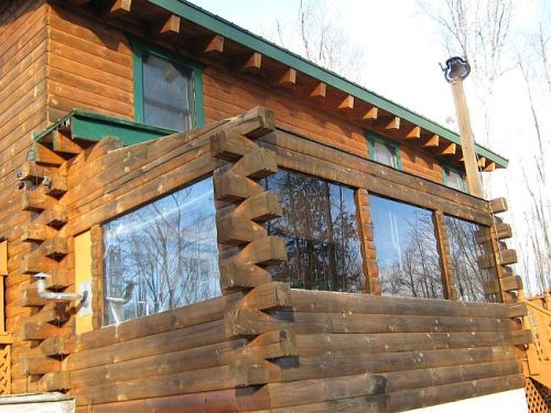 Bois Blanc Island Michigan Off Grid Log Home 16 Acres