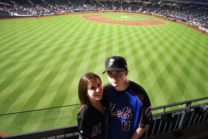 At the subway series a few years ago at CitiField. Mets won : )