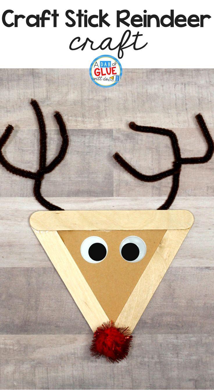 Craft stick reindeer craft navidad ruth decoracion - Decoracion de navidad para ninos ...