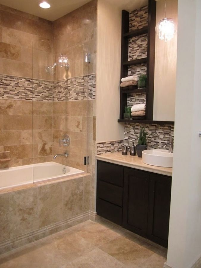 Small Brown And White Bathroom Ideas