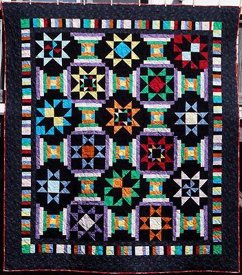 Midnight Stars Quilt Amazing Handmade Quilt In The