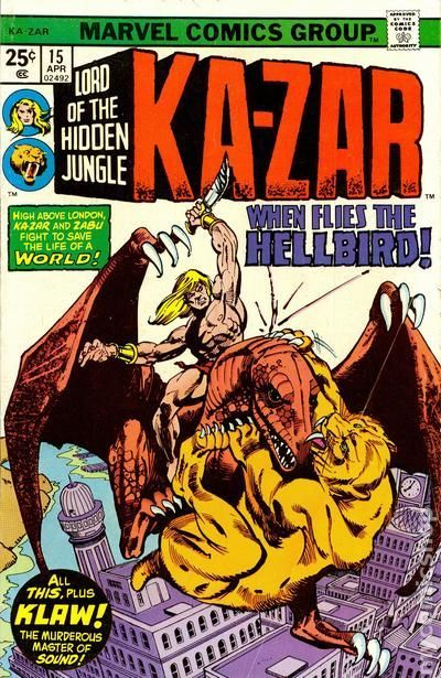 KA-ZAR 15, BRONZE AGE MARVEL COMICS