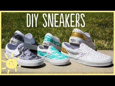 fac3acc06f1207 Brilliant Project  Make Your Own Designer Shoes with Just a Little Glue -  DIY   Crafts