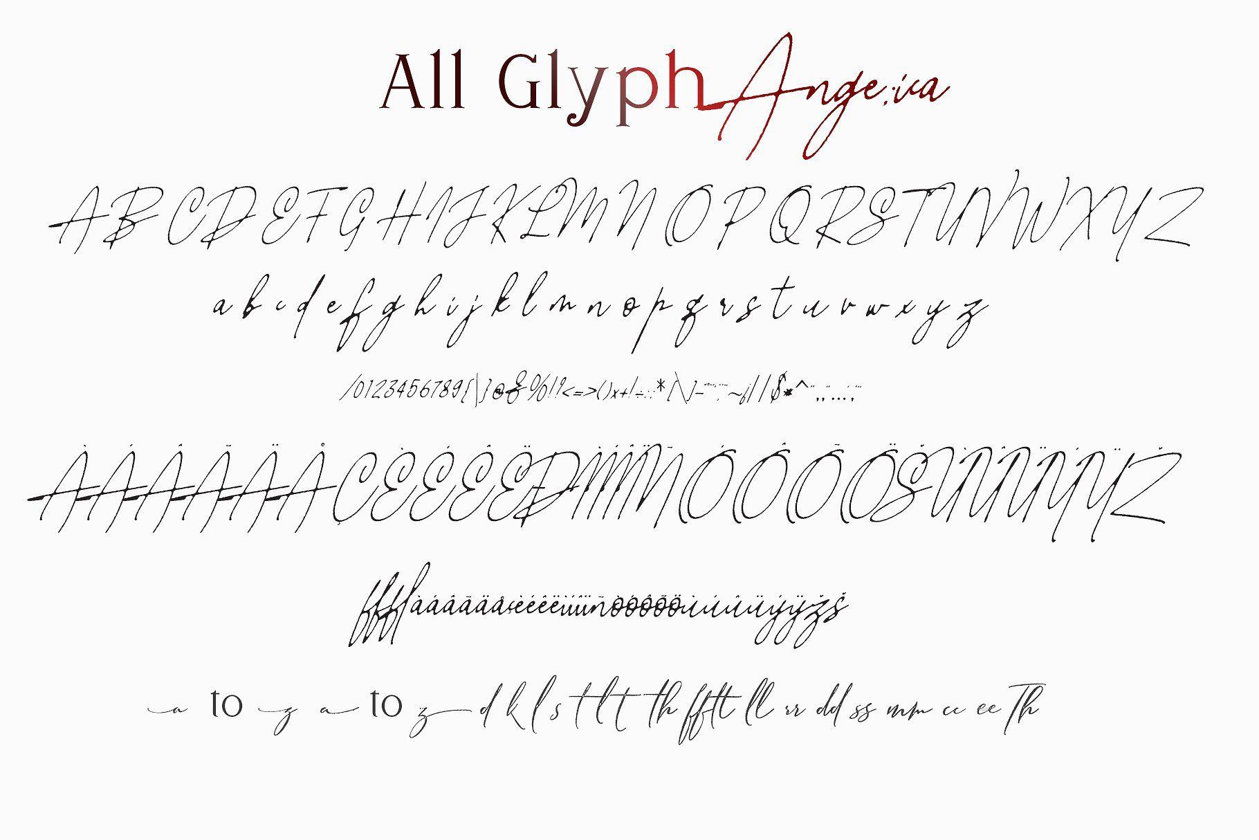 Angelica Feat Nathalia Script fonts design, Uppercase