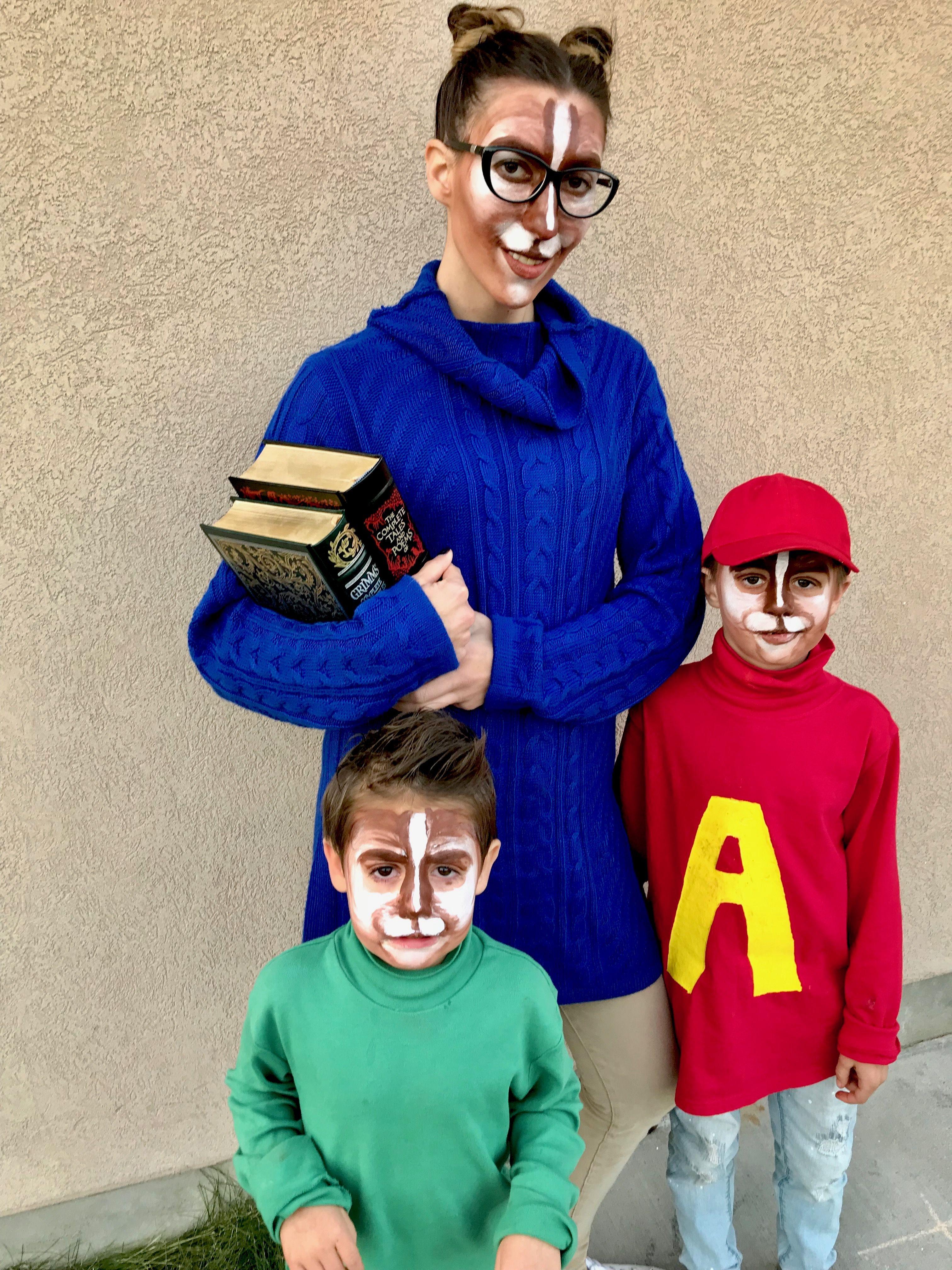 Alvin And The Chipmunks Family Halloween Costume Family Halloween Costumes Family Costumes Family Halloween