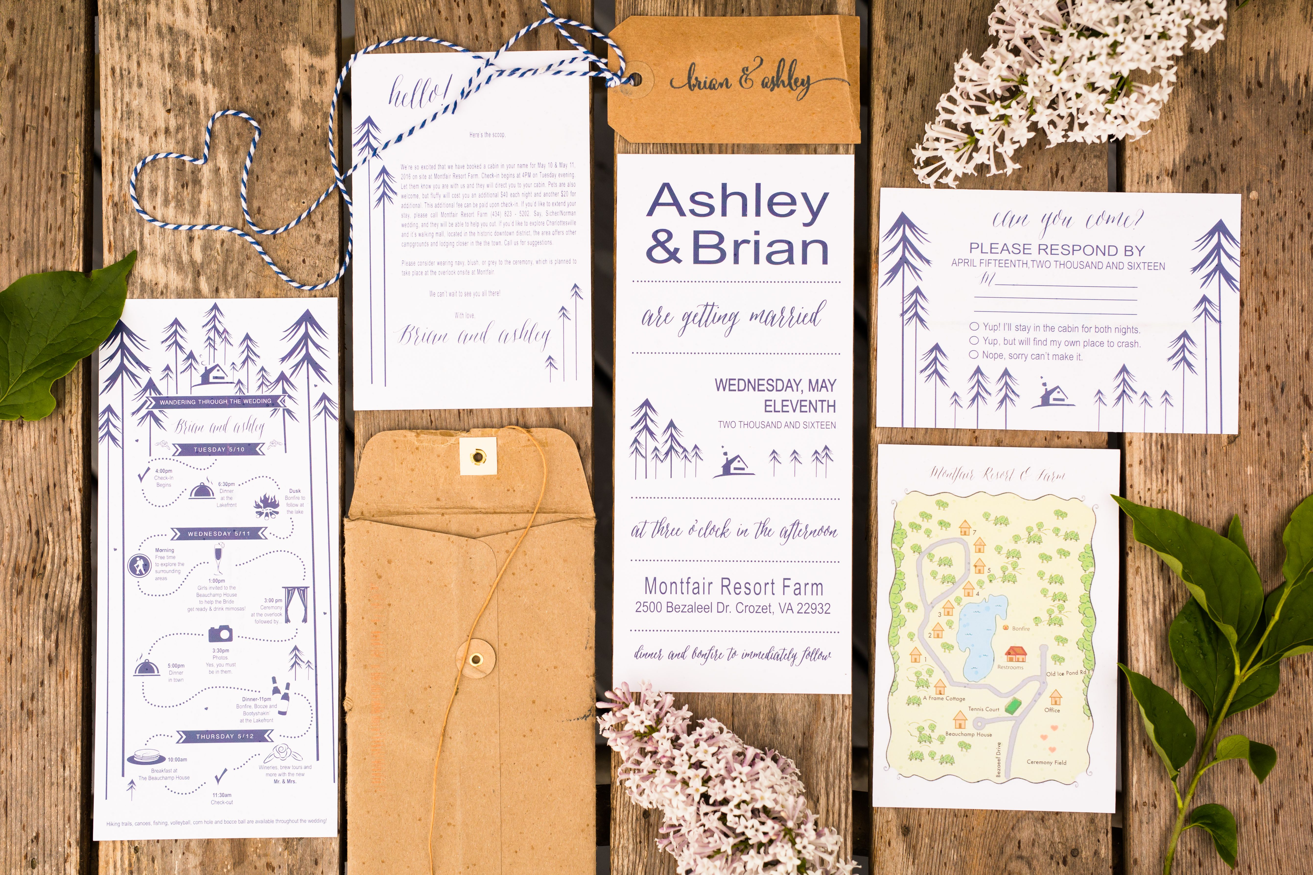 Wedding Planning: Camp Theme Wedding Invitations | Wedding themes ...