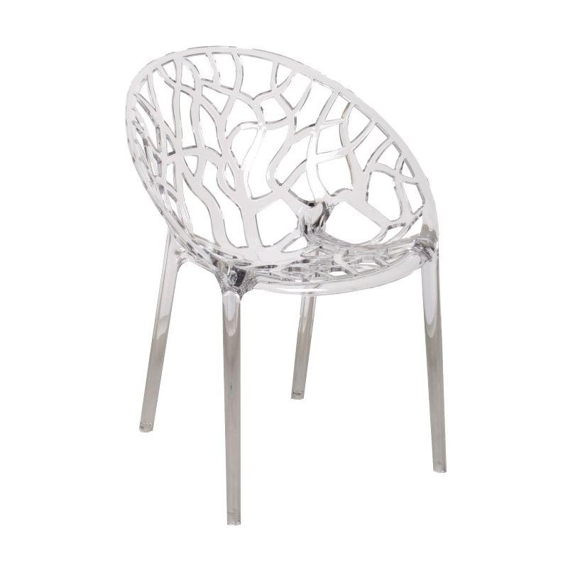 Stoel Crystal van het merk zuiver is een tijdloos en modern vormgegeven stoel. De Crystal stoel is een eye catcher voor in huis, op kantoor of in de tuin. Een sterke kunststof stoel met een organische vormgeving. De stoel Crystal is een echte aanvulling op uw leefomgeving.    Product Details:  Materiaal: Kunststof  Kleuren: Helder transparant, smoke grijs, glossy wit  Stapelbaar  kras en UV-bestendig  Geschikt voor binnen en buiten gebruik