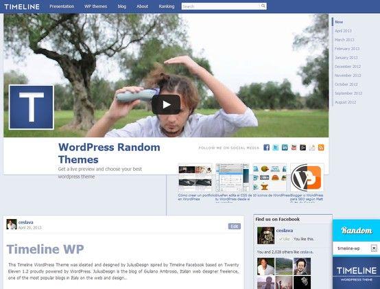 Estupendo tema de WordPress, clon del timeline de Facebook http ...