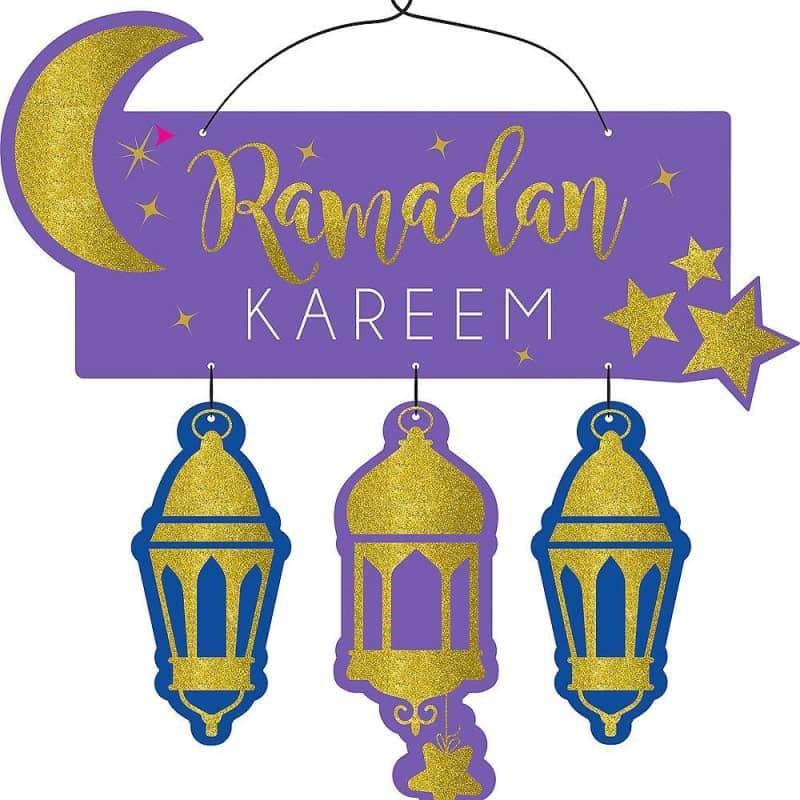 Ramadan Kareem Deluxe Glitter Sign Ramadan Kareem Decoration Ramadan Ramadan Kareem