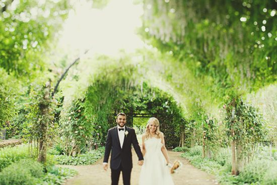 Julie and Matts Beautiful Garden Wedding Garden weddings