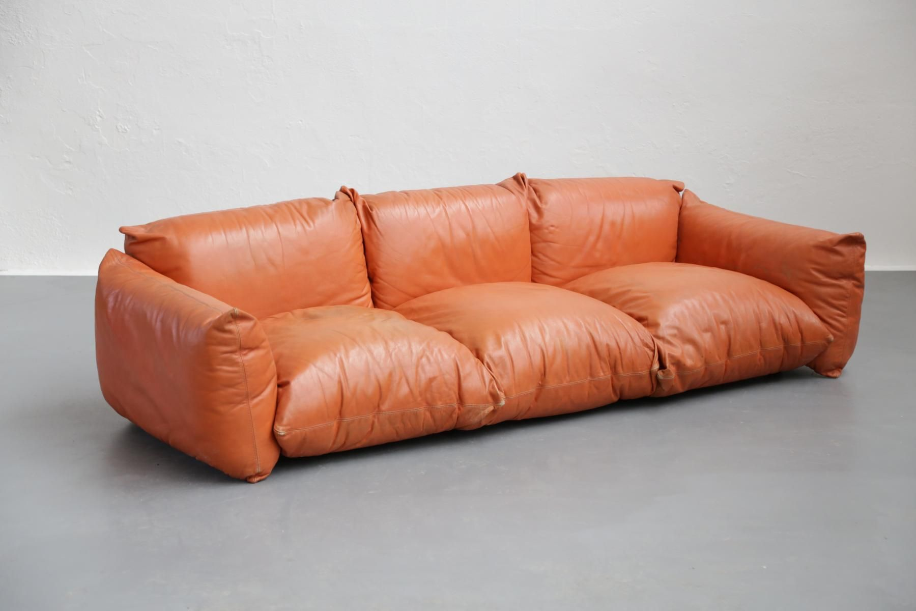 Vintage Italian Leather Sofa By Mario Marengo For Arflex 5 Italian Leather Sofa Vintage Sofa Minimalist Sofa