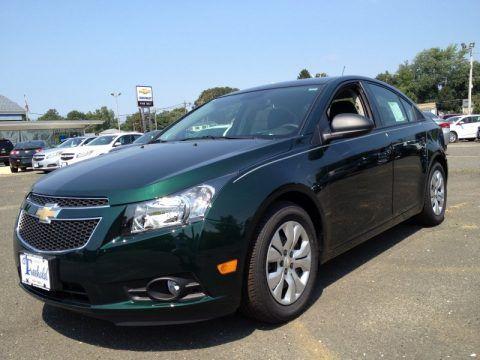 Rainforest Green Metallic Chevrolet Cruze Extra Cost Color But