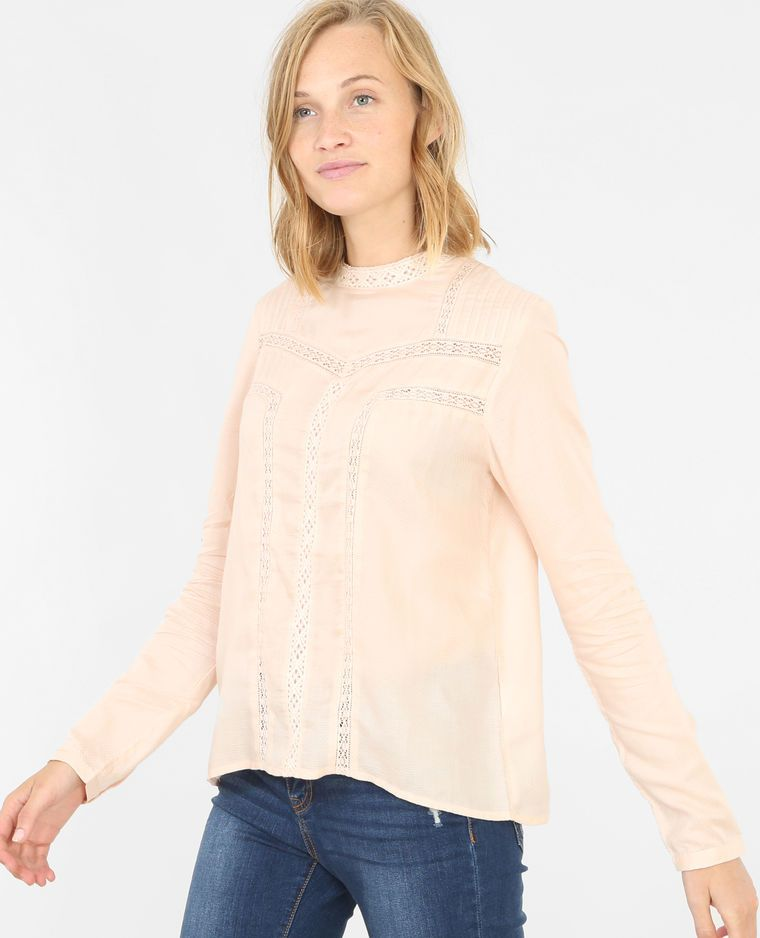 timeless design 9abce f8751 Blusa pizzo rosa cipria | In my new closet | Pizzo rosa ...