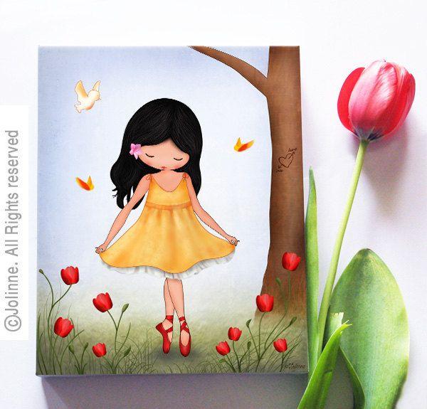 girls room canvas wall art nursery picture art for children kids rh pinterest es