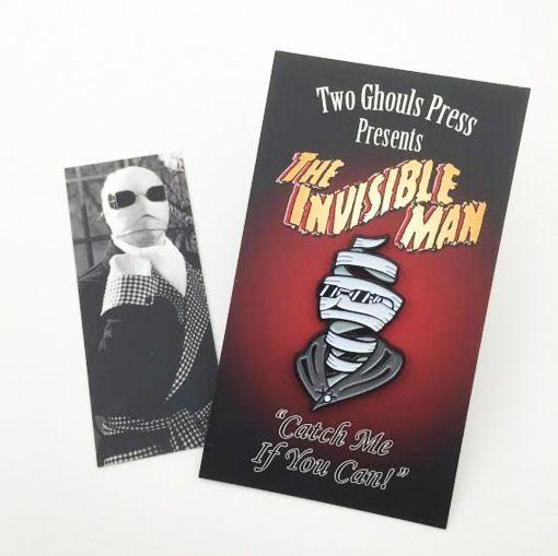 Invisible man - universal monsters enamel pin lapel pin flair two ghouls press