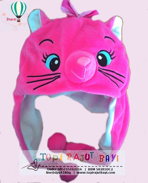 Animal Hat Hello Kitty Ta22 Topi Bayi Hello Kitty Topi