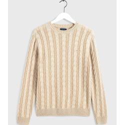 Gant Vintage Pullover mit Zopfmuster (Grün) GantGant #knittedsweaters