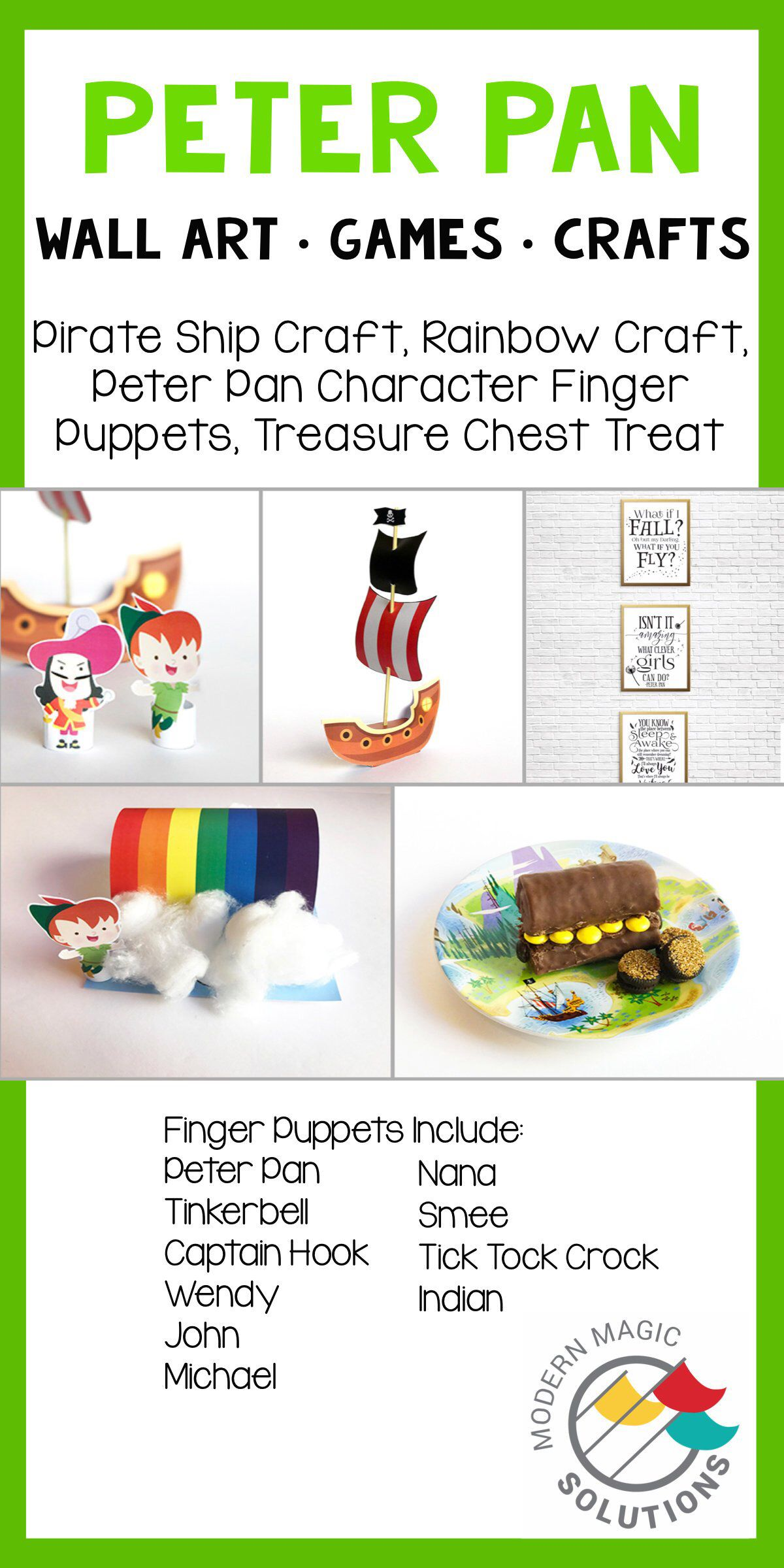 Peter Pan Themed Printable Art Quotes Games Crafts