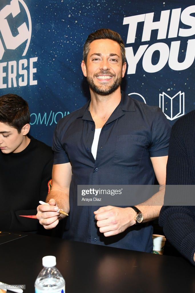 """Zachary Levi attends the """"Shazam!"""" meet and greet at WonderCon 2019 -..."""