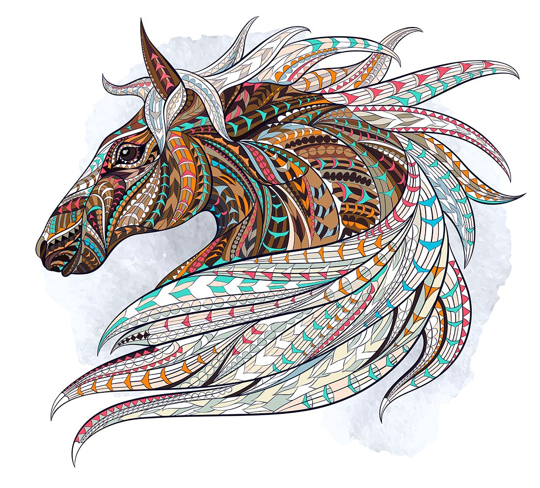 """""""Лошади""""раскраски антистресс.. Обсуждение на LiveInternet ..."""