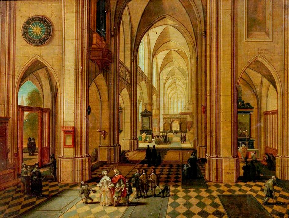 Antwerp Cathedral by Sebastian Vrancx and Peeter Neeffs the elder