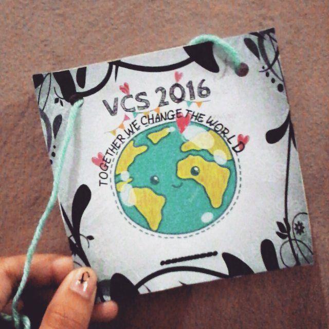 So cute. Hihi. #nametag #DIY #VCS'16 #Together #we #change #the #world #Grade1 by marinellathenadurata