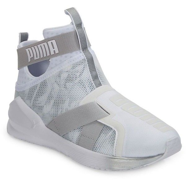 Puma Womens Fierce Strap Hi-Top Slip-On Sneakers (140 BAM) ❤ liked on  Polyvore featuring shoes 399b87252
