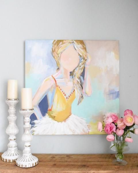 Fashionista - C. Brooke Ring - Acrylic on Canvas - Original Fine Art - Colorful Chic Home Decor - Would look so perfect in a bedroom!!