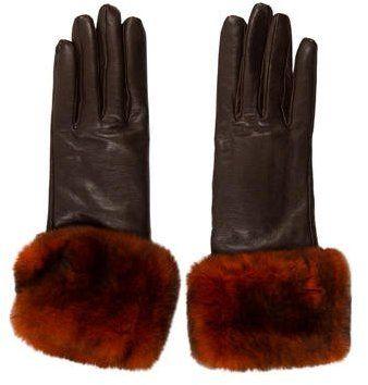 2a51d77da Chanel Lambskin Fur-Trimmed Gloves   Beautiful fashion for women ...