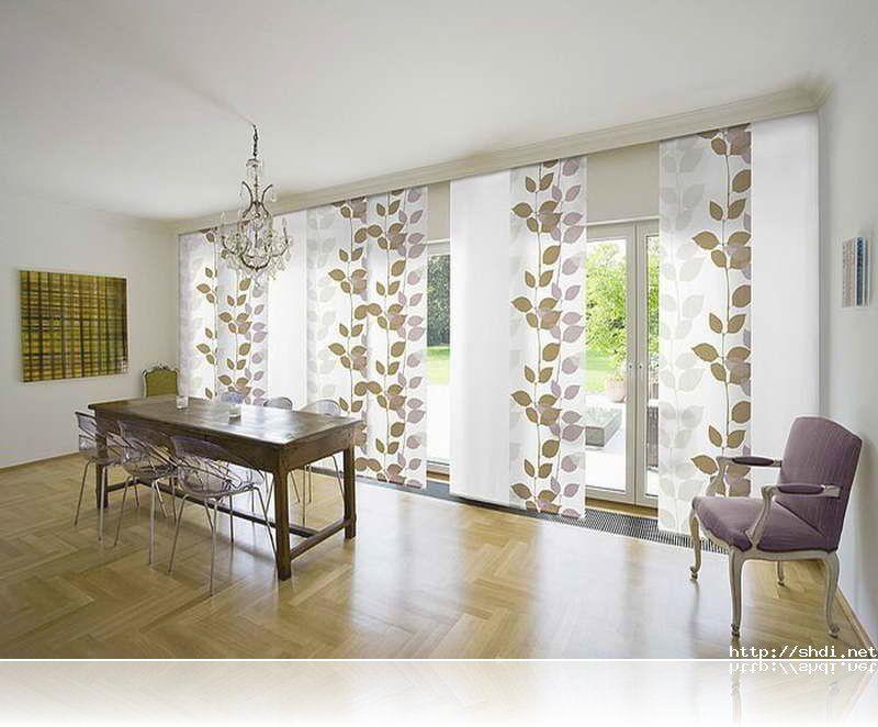 Sliding Door Window Treatments With Flower Curtain Sliding