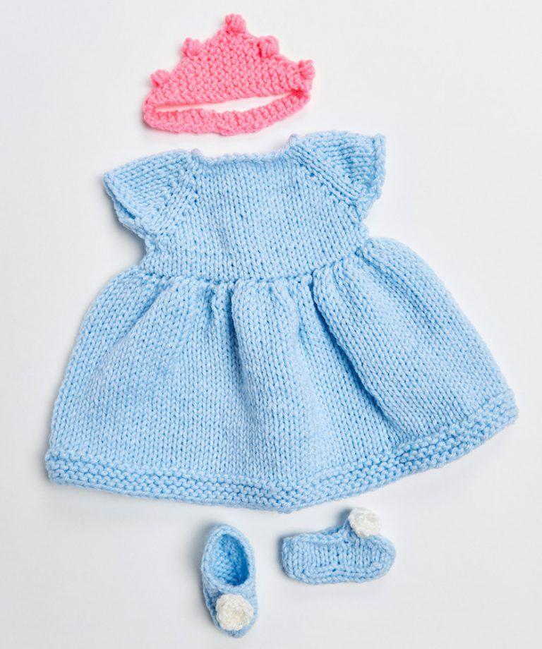 Royal Princess Doll Outfit Free Knitting Pattern 18 Inch ...