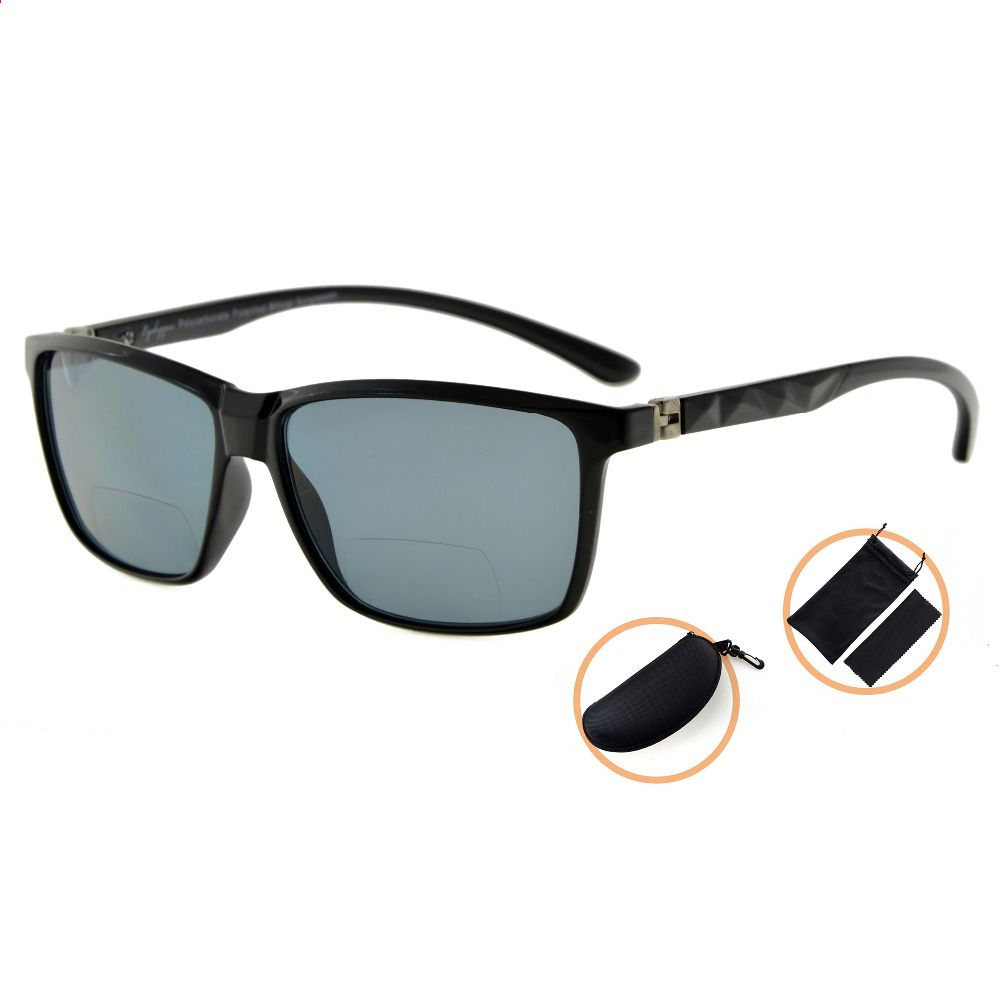 6d8fff7c9b S032PGSG Eyekepper 180 Degree Spring Hinges Polycarbonate Polarized Bifocal  Sunglasses Men Women +150 +