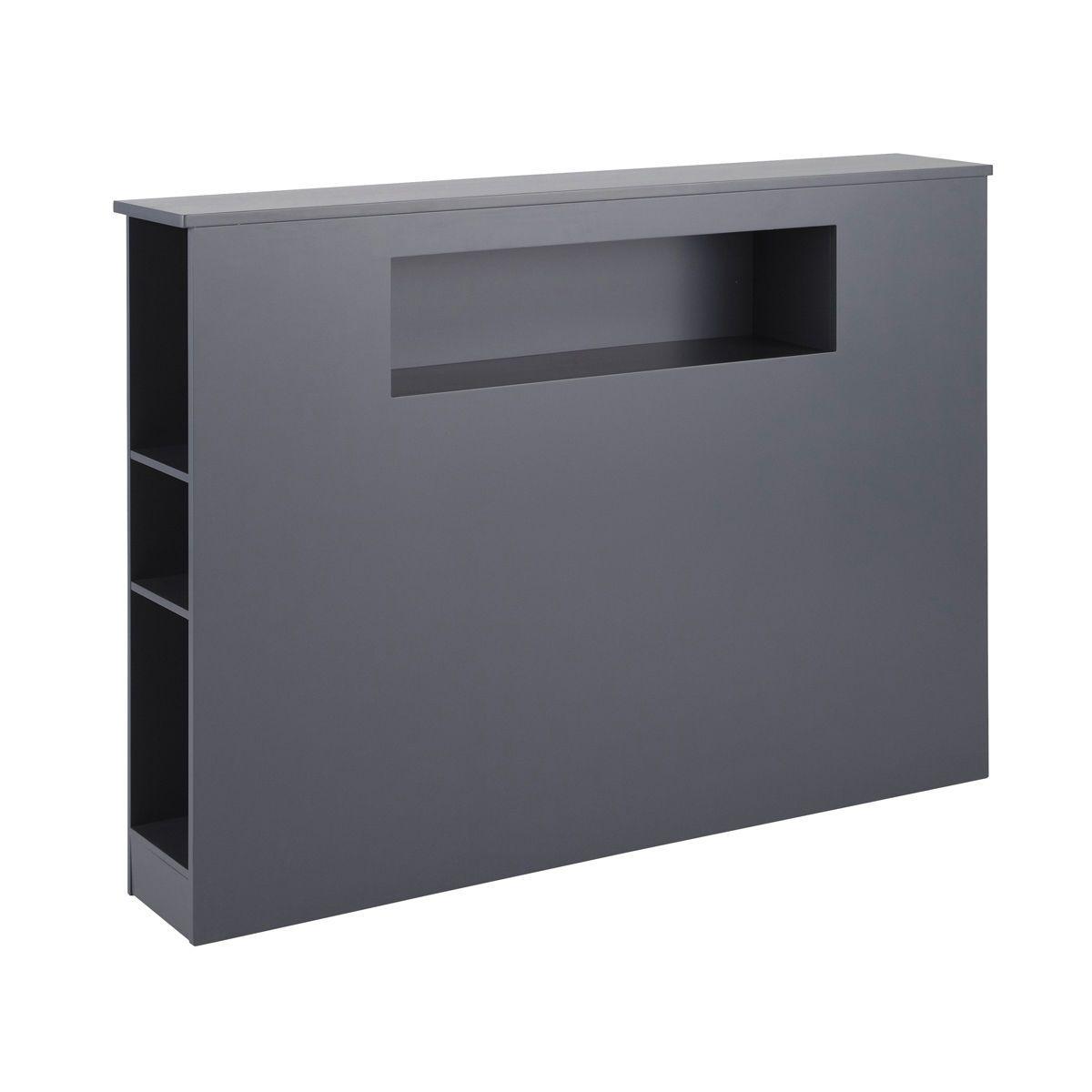 Grey 140 Headboard Tete De Lit Grise Deco Chambre Parentale Tete De Lit Tete De Lit Avec Rangement