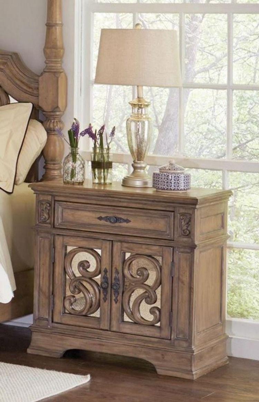 Ilana Antique Linen Door Nightstand (With images