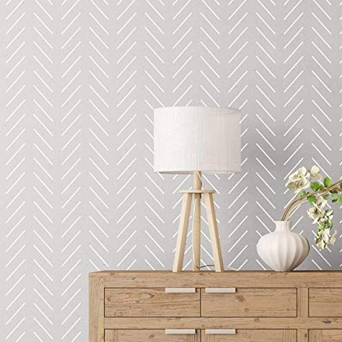 New Herringbone Simple Large Wall Stencil For Painting