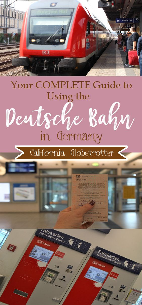 Your COMPLETE Guide to Using the Deutsche Bahn in Germany #travelbugs