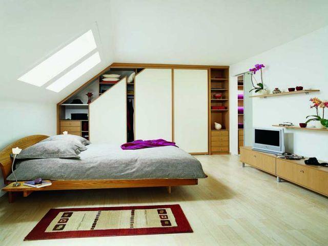 am nager un dressing dans une pi ce mansard e mansard dressing et du toit. Black Bedroom Furniture Sets. Home Design Ideas