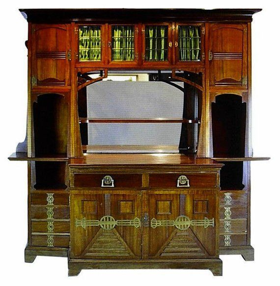 Jugendstil Art Nouveau Arts and Crafts Mahogany Buffet circa 1900 Jugendstil Art Nouveau Arts and Crafts Mahogany Buffet circa 1900