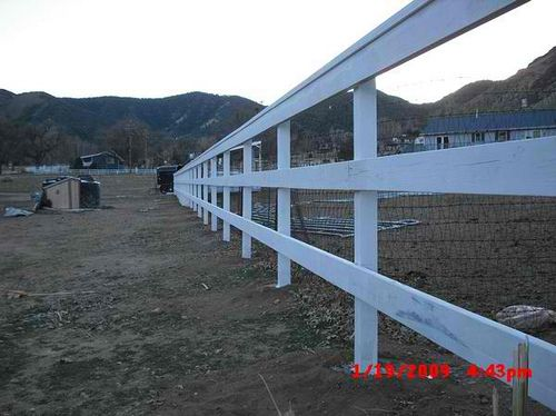 2x6 Douglas Fir Horse Corral Fence After Painting 2 Taylor St Lebec 93243 Horse Corral Fence Douglas Fir