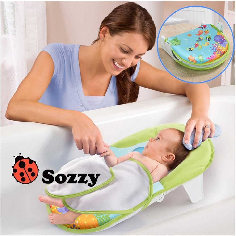 1pcs Sozzy Baby Toys Bath Sling With Warming Wings Foldable Bath Net ...