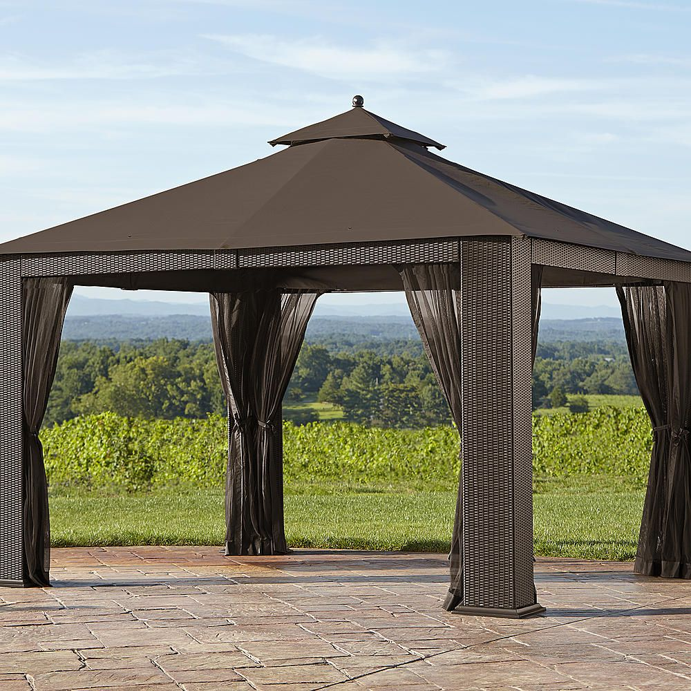 Ty Pennington Parkside 10' X 12' Wicker Gazebo